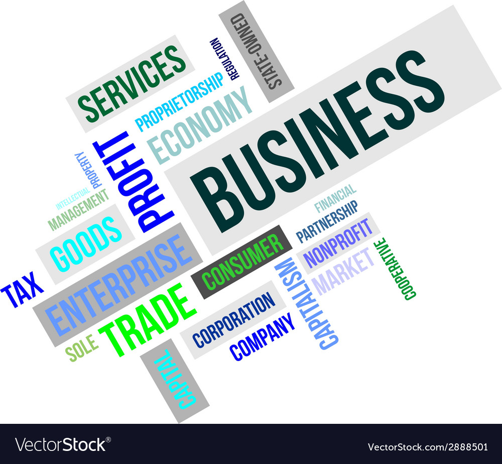 Word cloud business vector | Price: 1 Credit (USD $1)