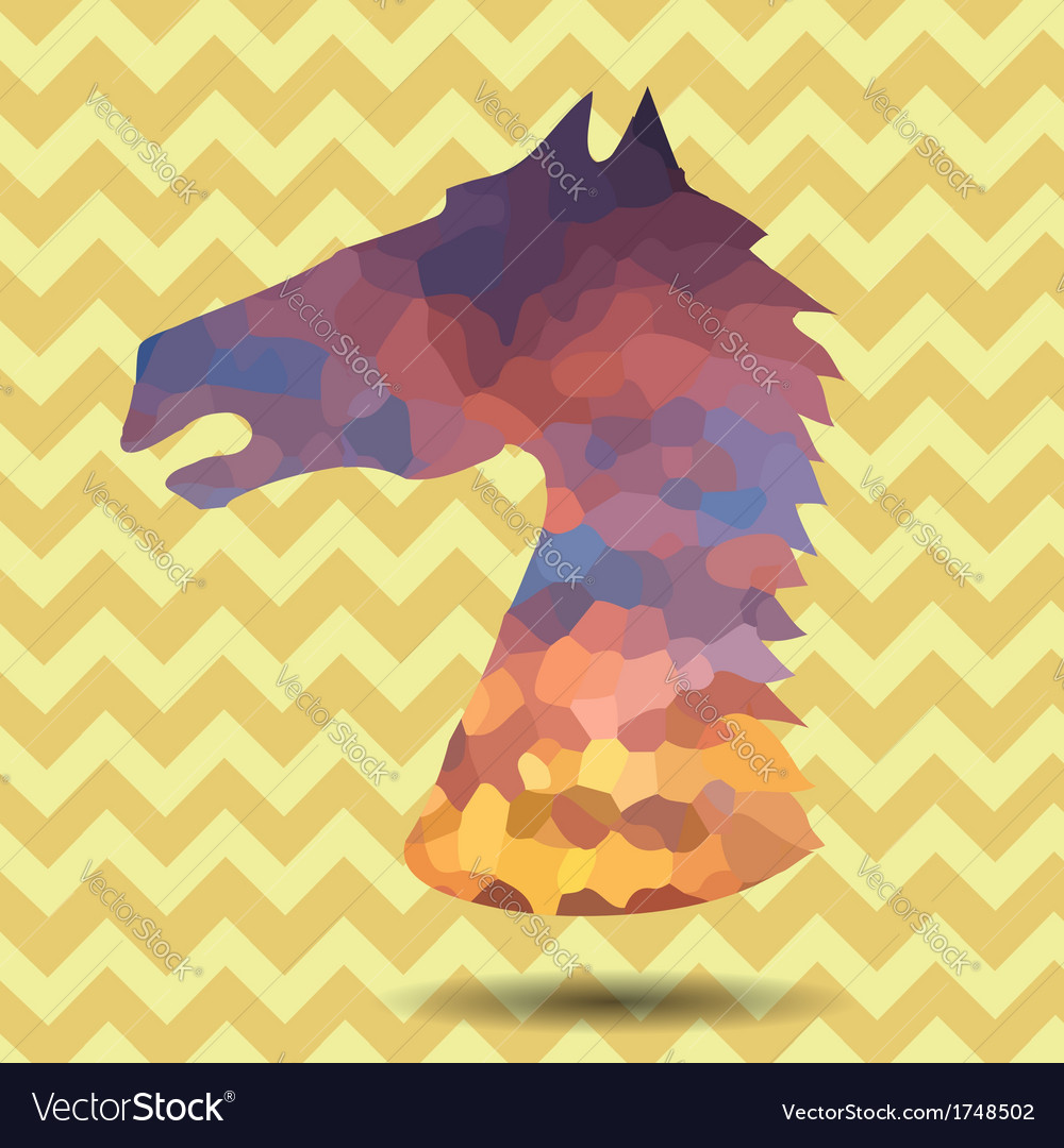 Abstract horse head vector | Price: 1 Credit (USD $1)