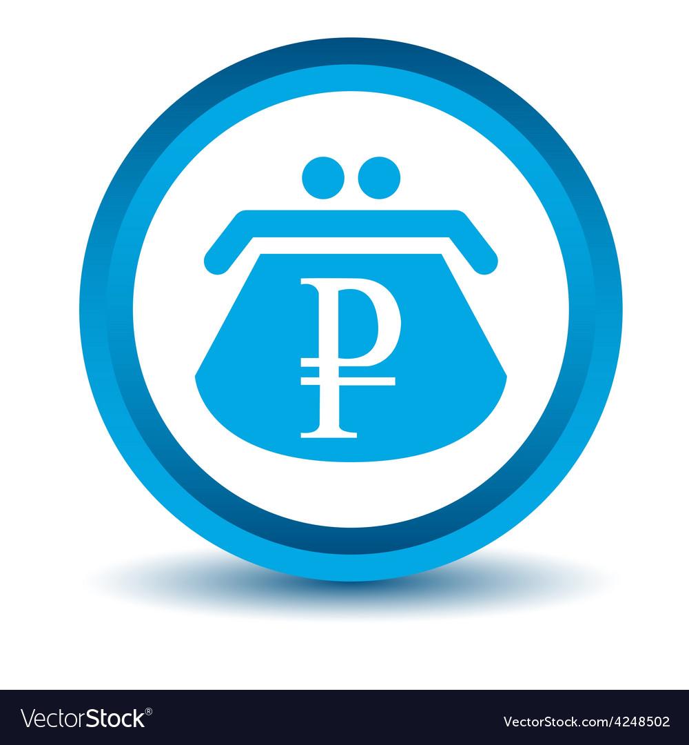 Blue rouble purse icon vector | Price: 1 Credit (USD $1)