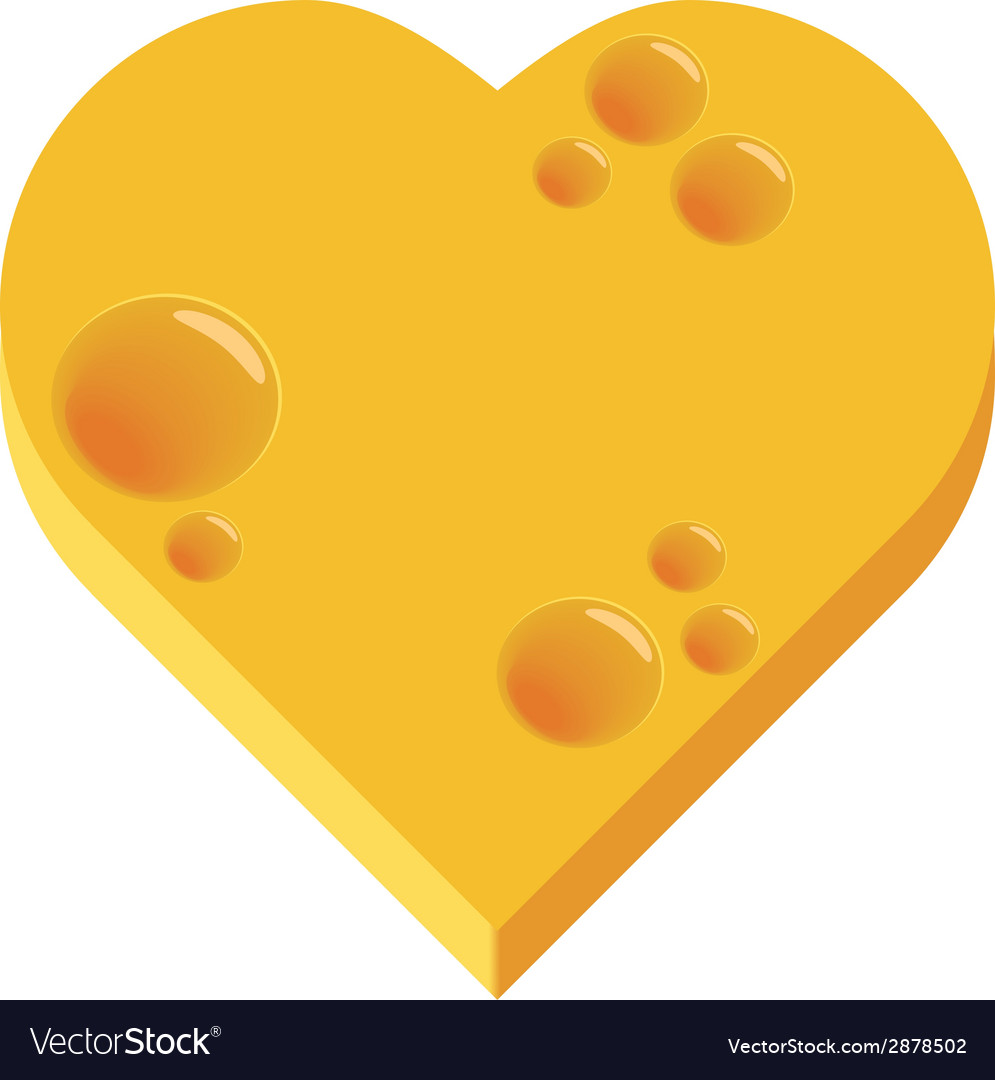 Cheese heart vector | Price: 1 Credit (USD $1)