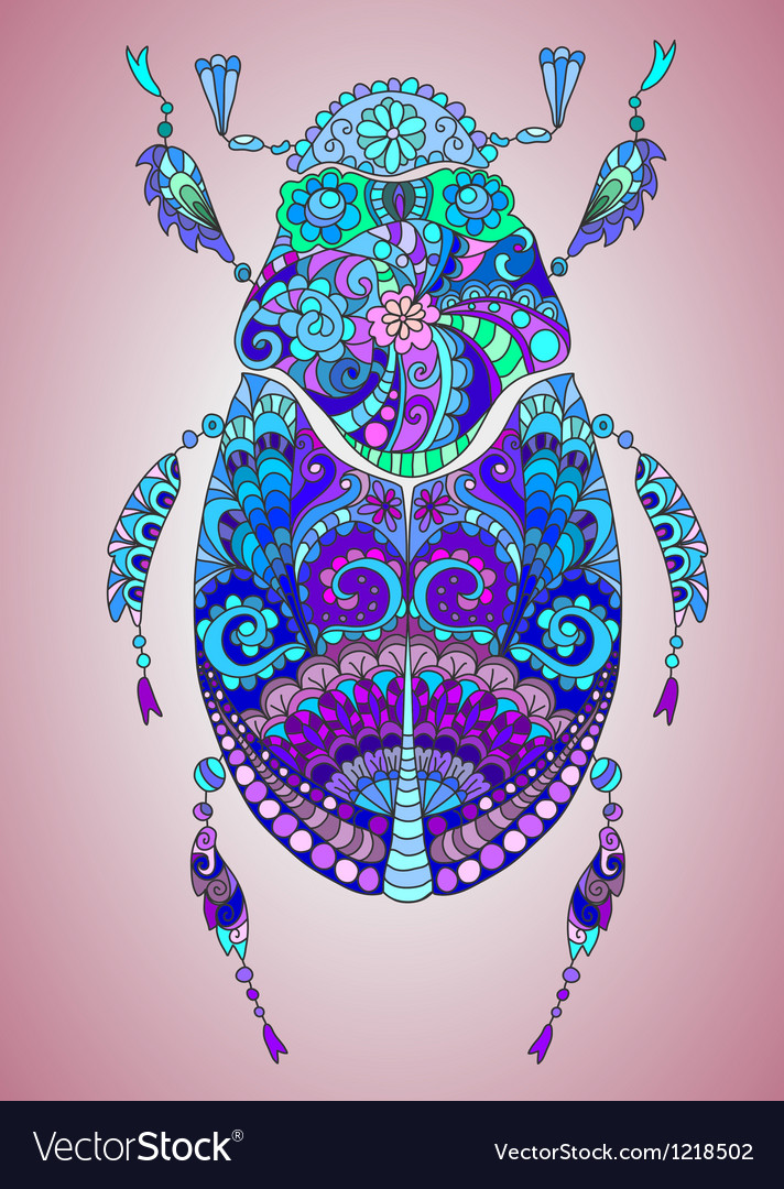 Colorful bug vector | Price: 1 Credit (USD $1)