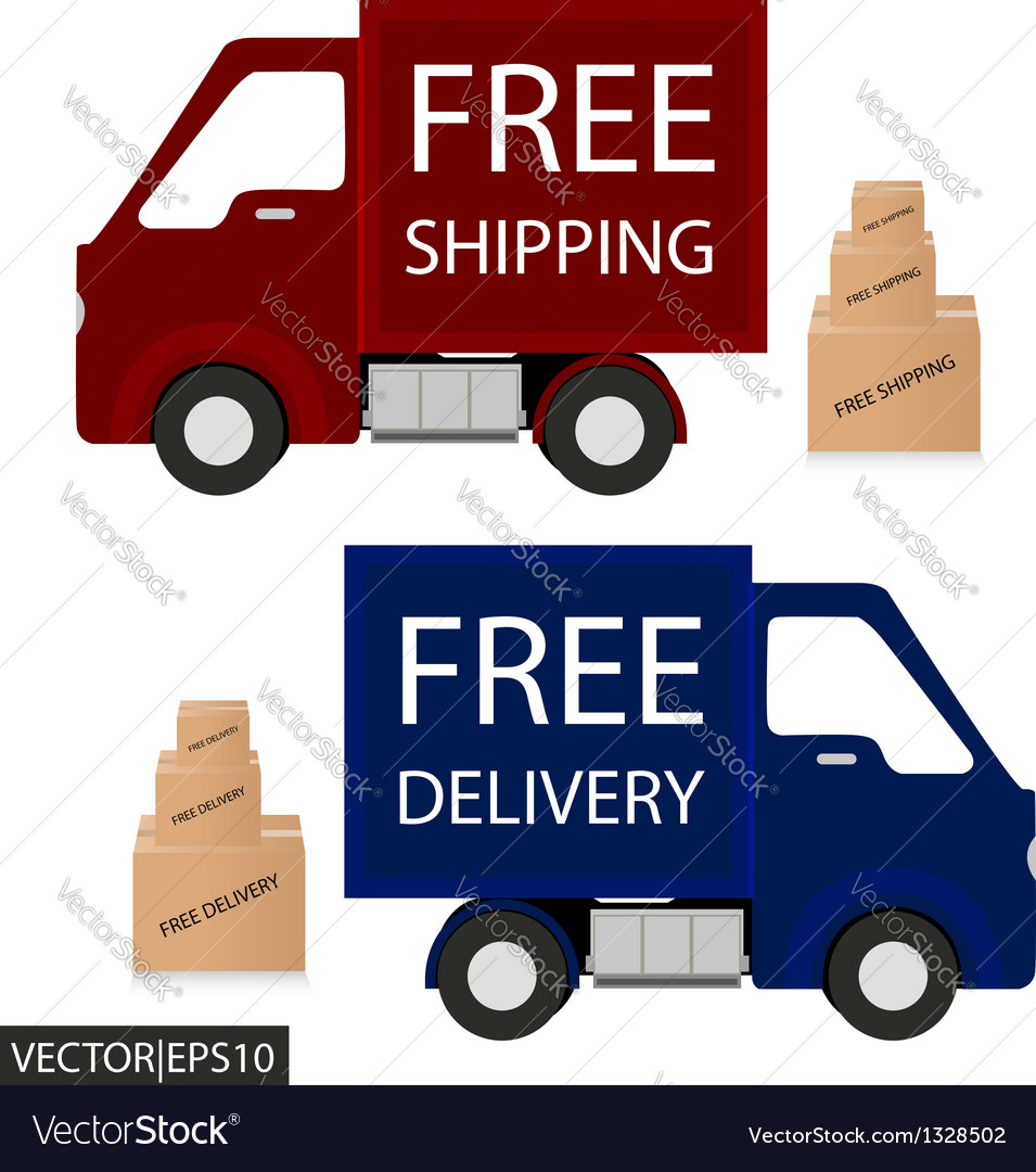 Delivery car vector | Price: 1 Credit (USD $1)