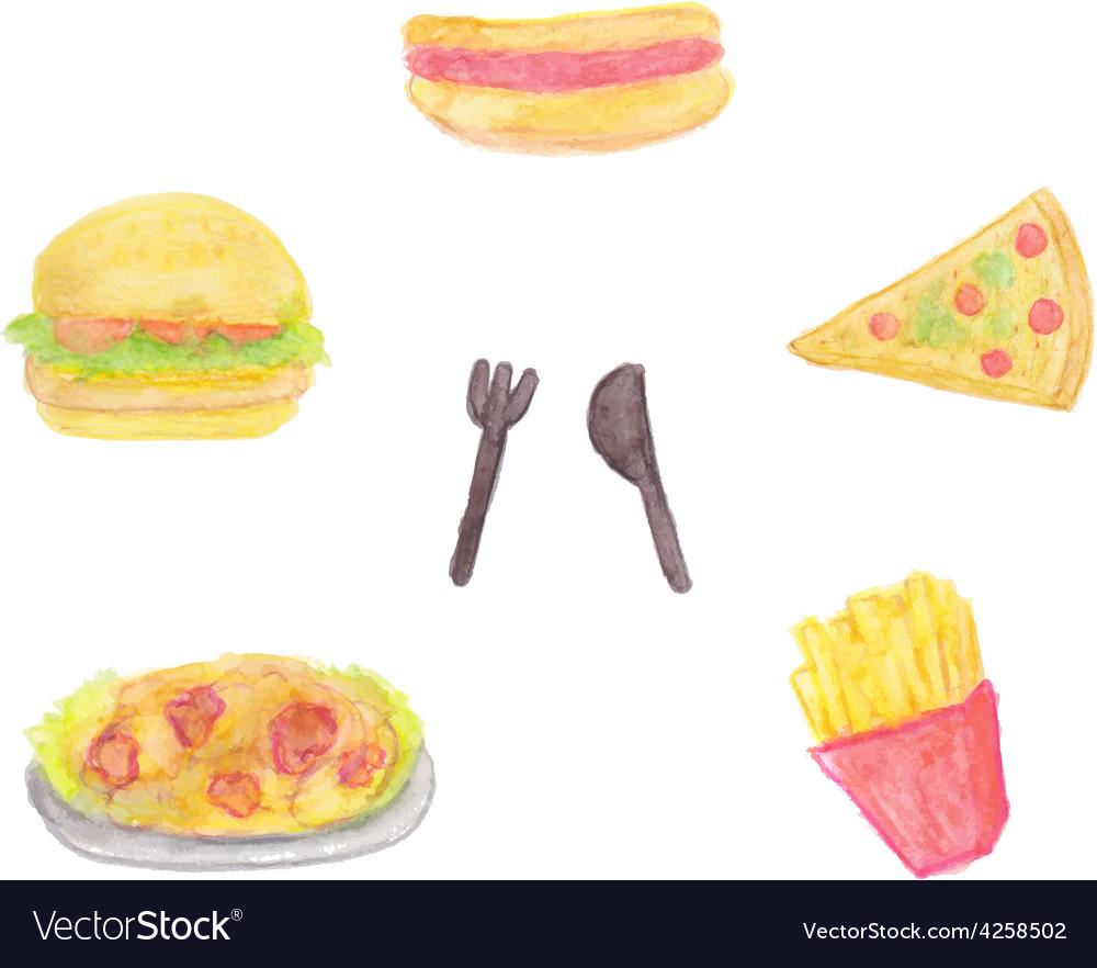 Fast food set vector   Price: 1 Credit (USD $1)