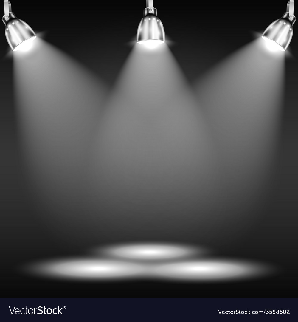 Illuminated floor in dark room vector | Price: 1 Credit (USD $1)