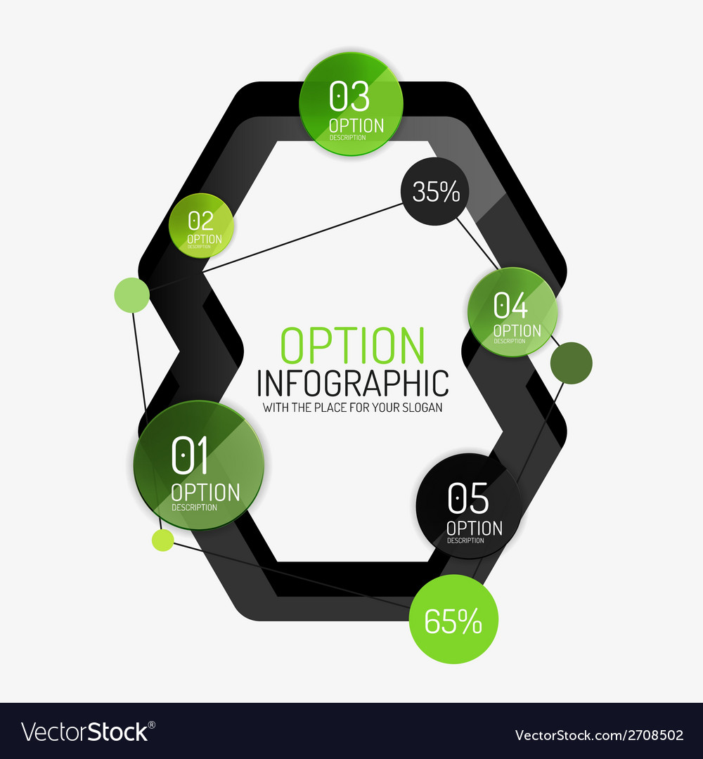 Infographic report template vector | Price: 1 Credit (USD $1)