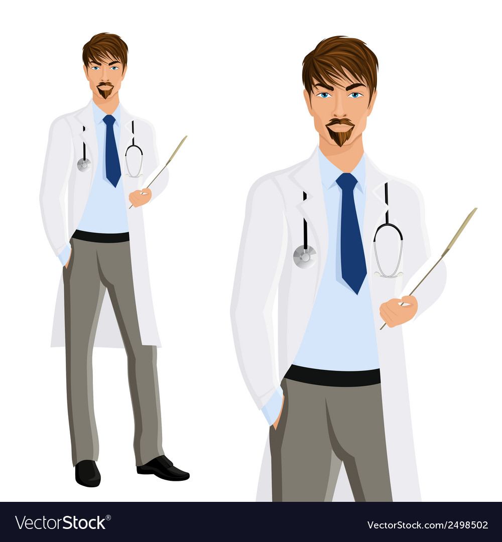 Man doctor portrait vector | Price: 1 Credit (USD $1)