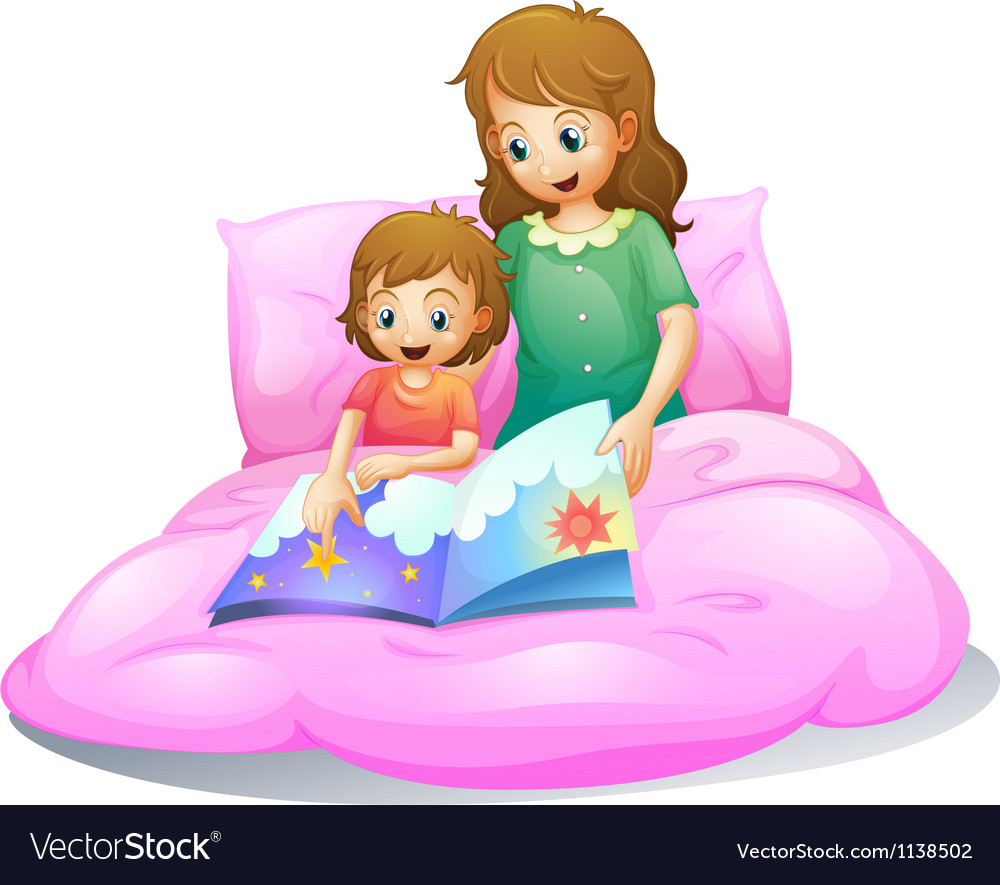Mom and kid vector | Price: 1 Credit (USD $1)