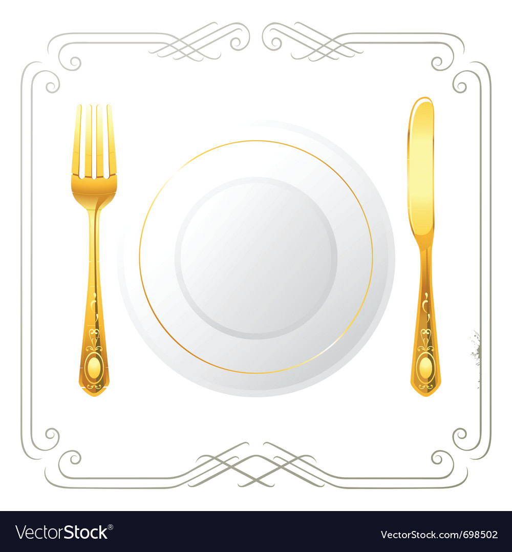 One person place setting vector | Price: 1 Credit (USD $1)