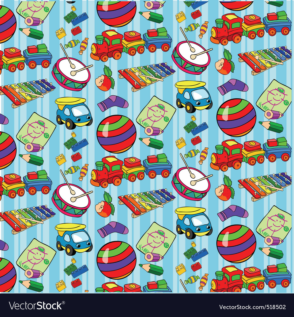 Pattern of childrens toys for boys vector | Price: 1 Credit (USD $1)