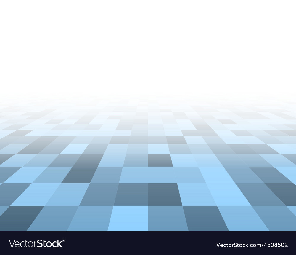 Perspective blue checkered surface vector | Price: 1 Credit (USD $1)