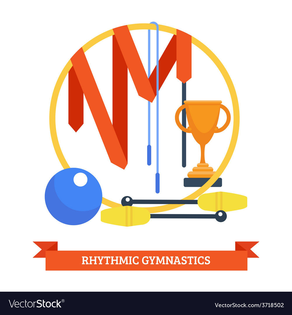 Rhythmics gymnastic concept vector | Price: 1 Credit (USD $1)