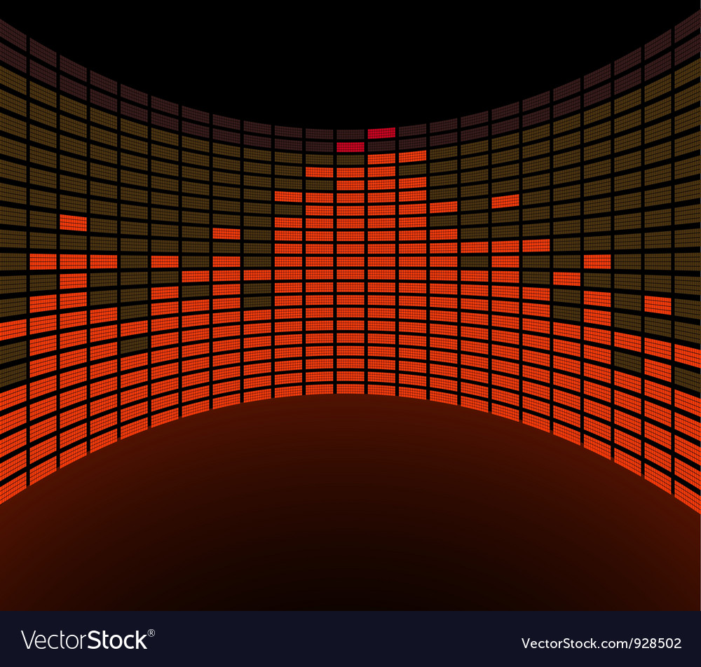 Round graphic equalizer vector | Price: 1 Credit (USD $1)