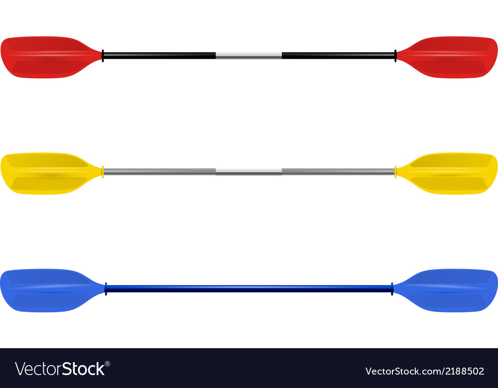 Set professional canoe oars vector | Price: 1 Credit (USD $1)