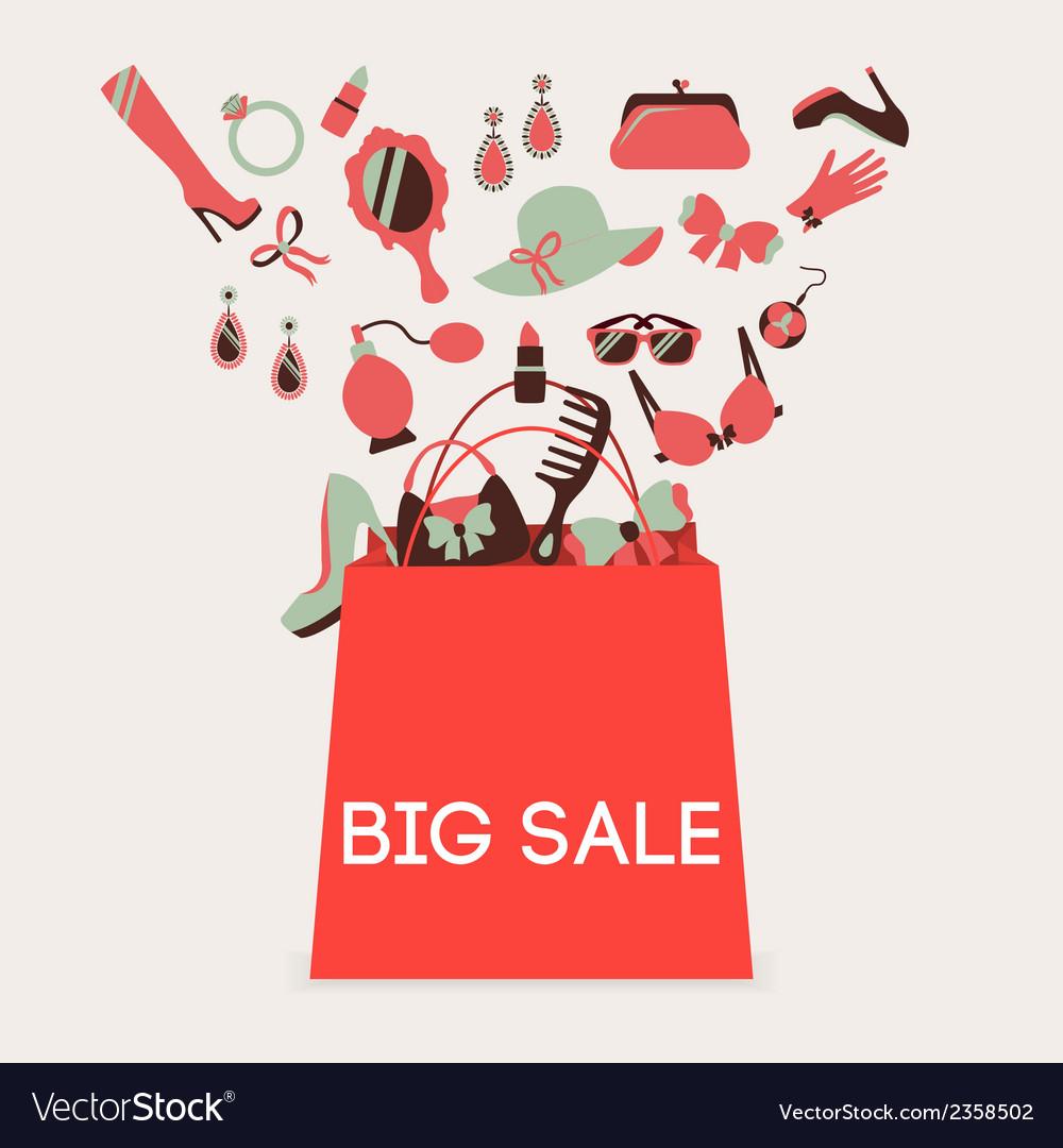 Shopping bag big sale vector | Price: 1 Credit (USD $1)