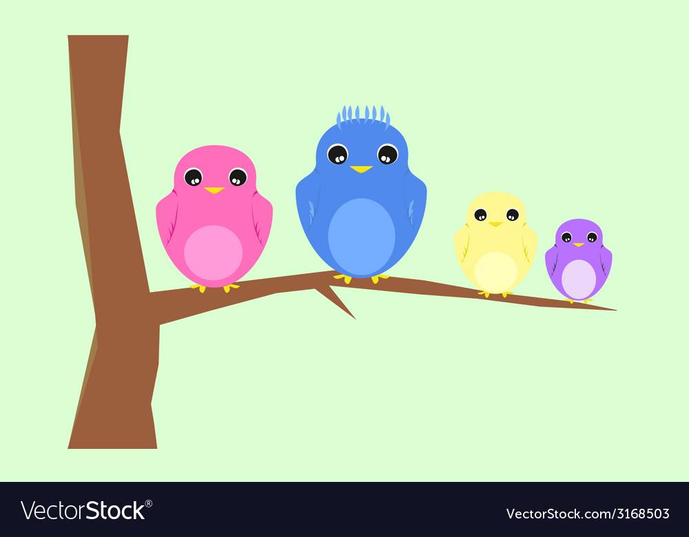 Bird family vector | Price: 1 Credit (USD $1)