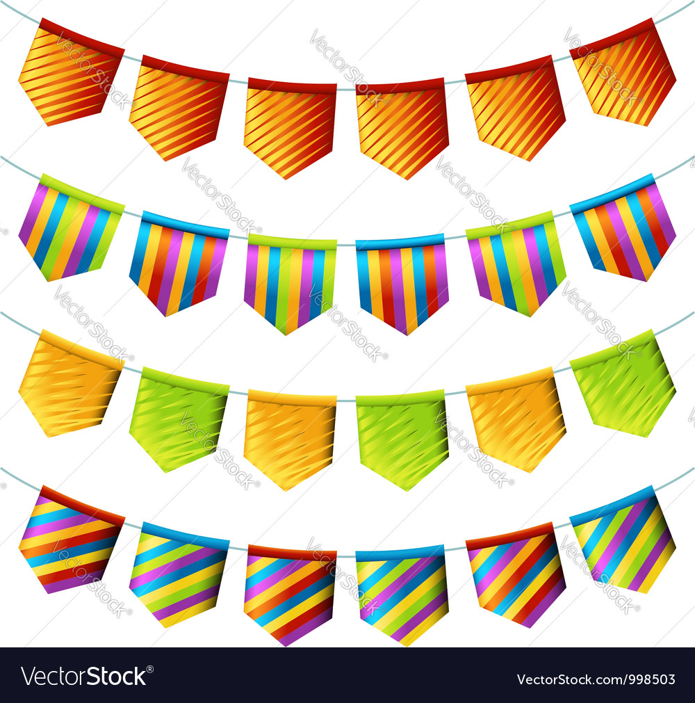 Bright bunting flags vector | Price: 1 Credit (USD $1)