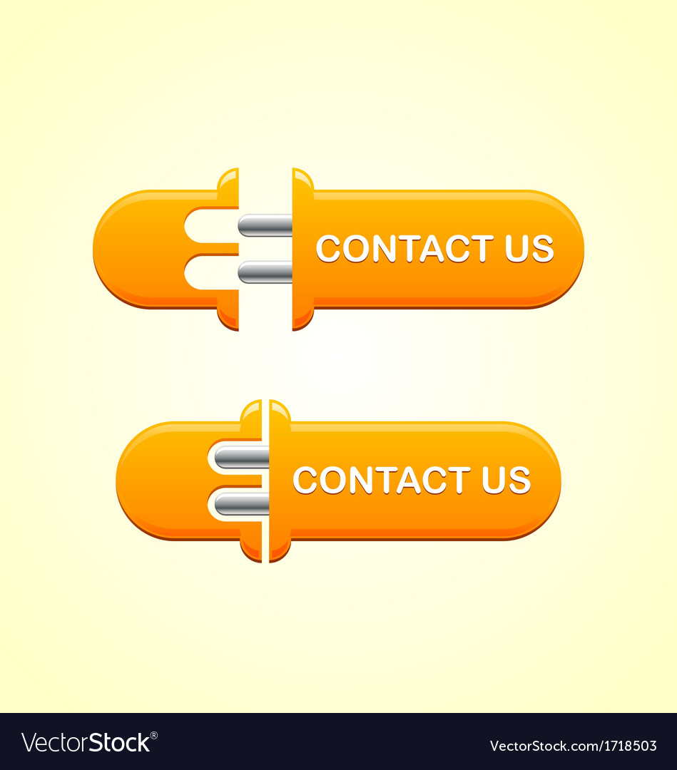 Contact us button vector | Price: 1 Credit (USD $1)
