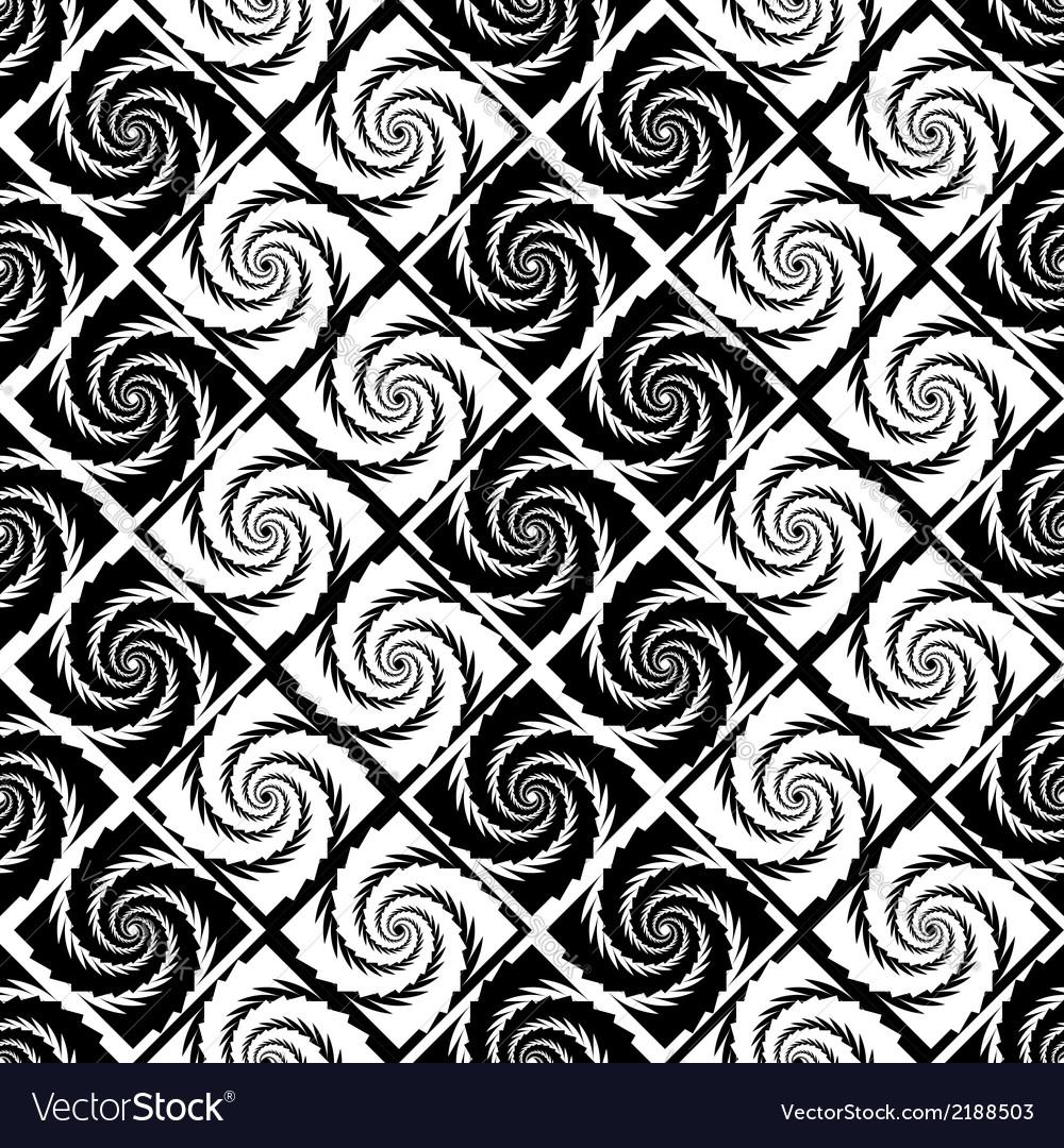 Design seamless monochrome vortex zigzag pattern vector   Price: 1 Credit (USD $1)