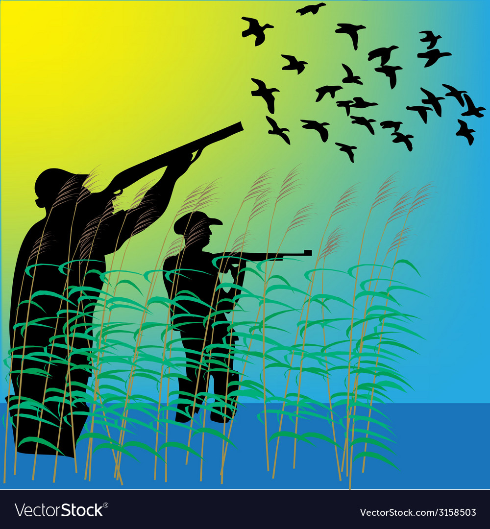 Duck hunters vector | Price: 1 Credit (USD $1)