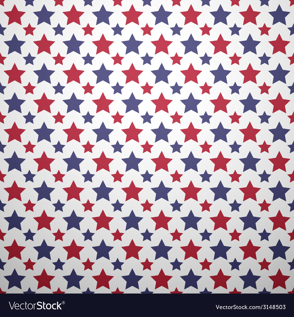 Patriotic red white and blue geometric seamless vector | Price: 1 Credit (USD $1)