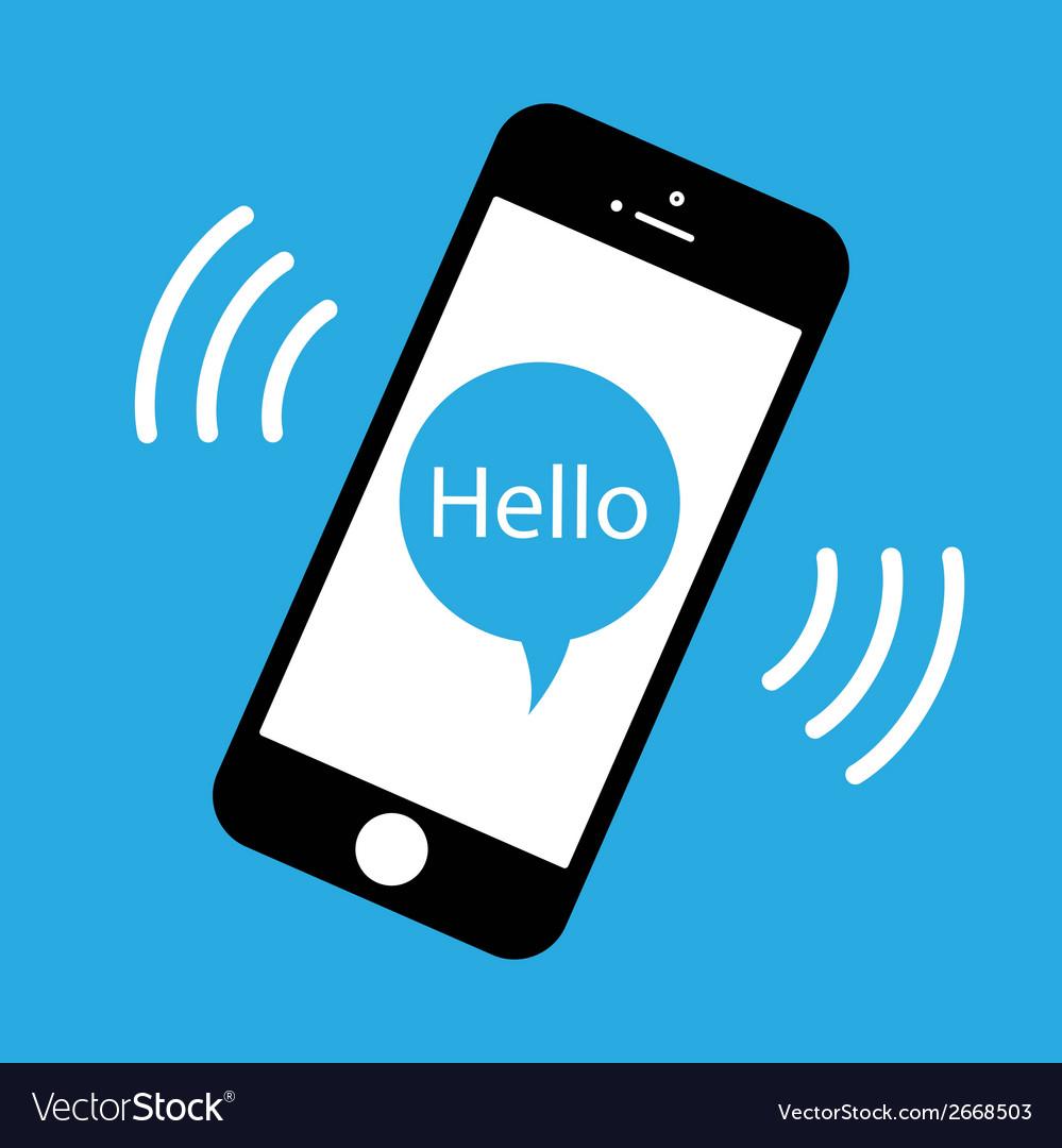 Phone ringing vector