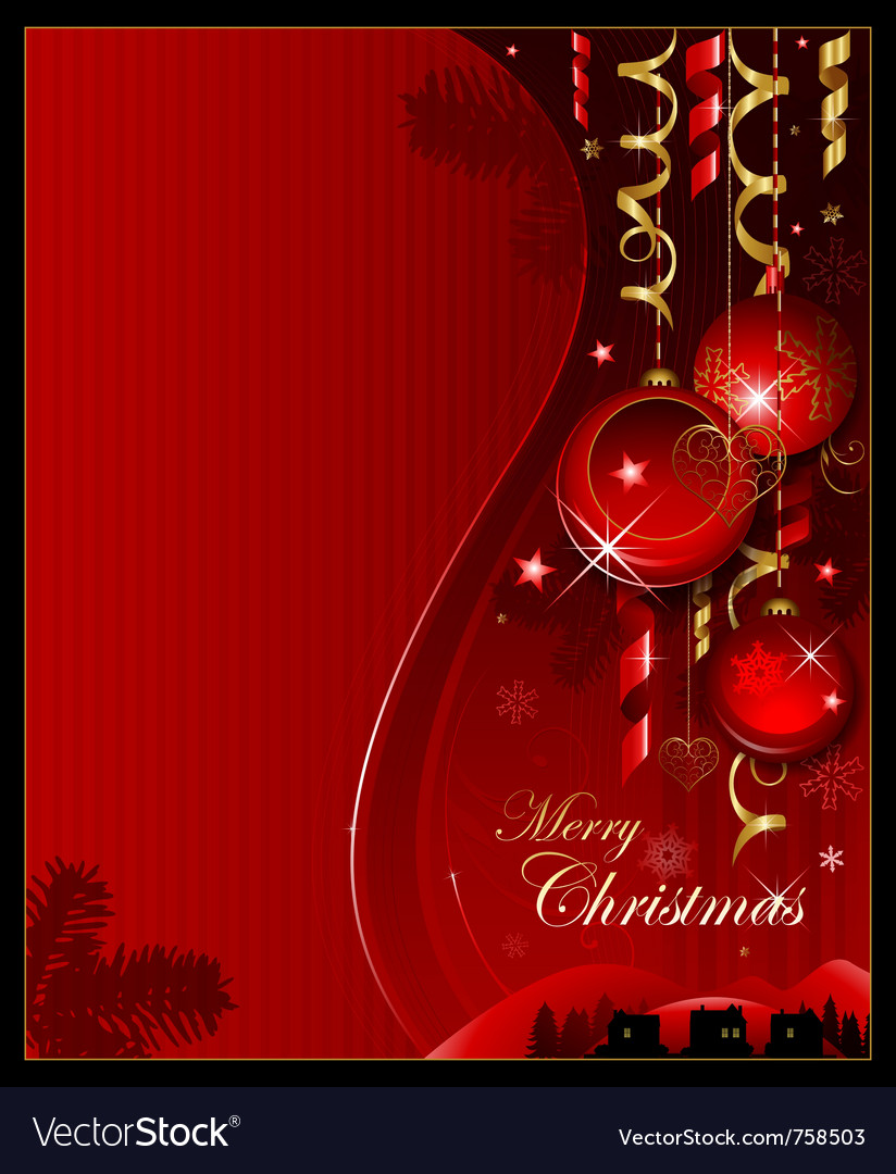 Red christmas decoration background vector | Price: 1 Credit (USD $1)