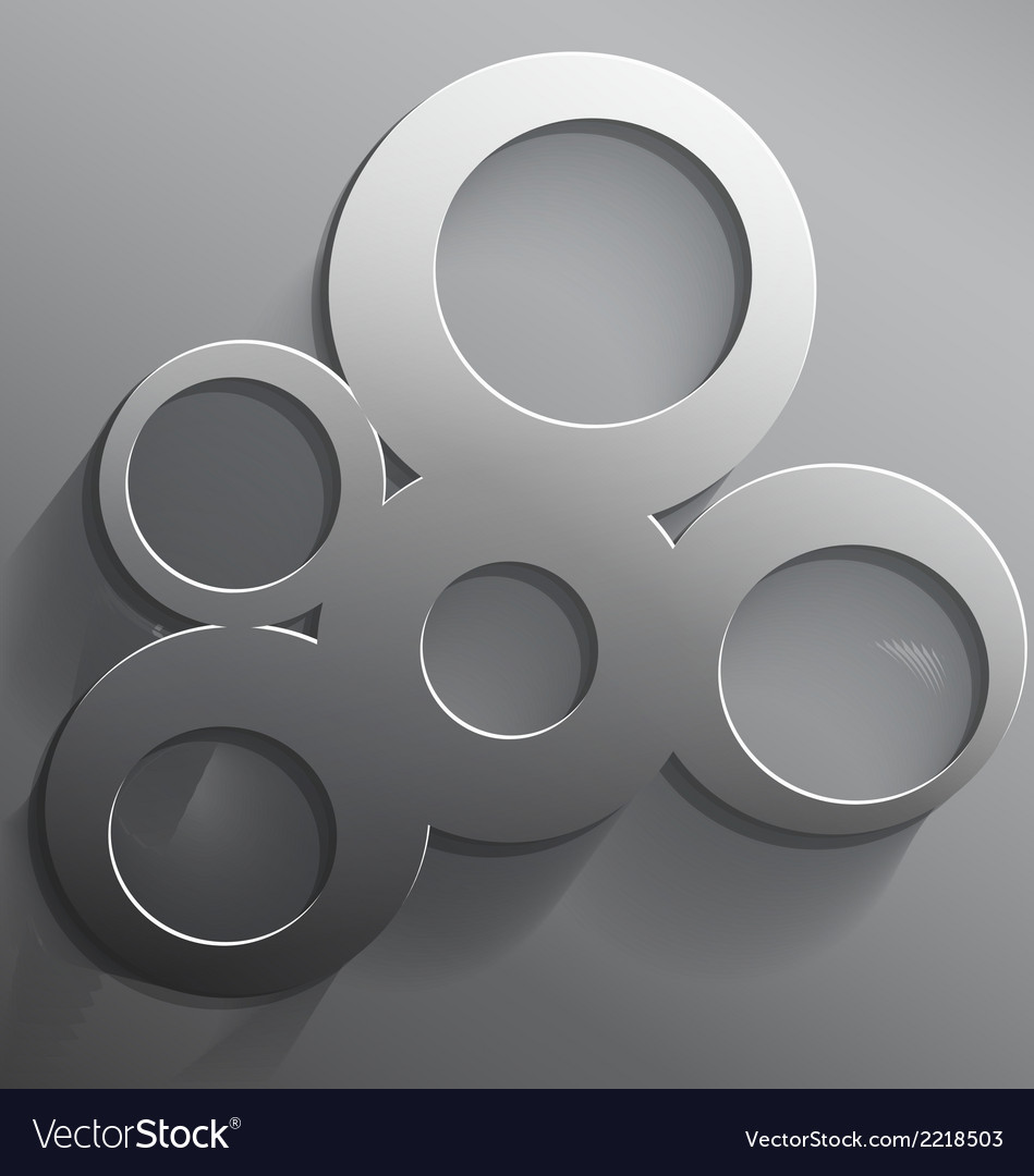 Round 3d steel frame vector | Price: 1 Credit (USD $1)
