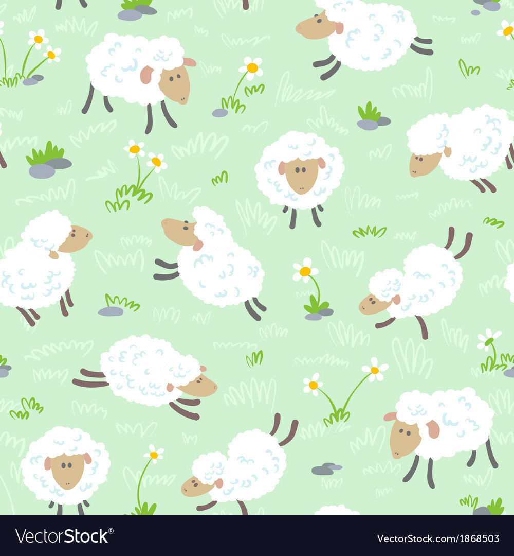 Seamless with sheeps vector | Price: 1 Credit (USD $1)