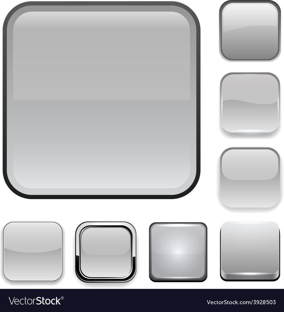 Square grey app icons vector | Price: 1 Credit (USD $1)