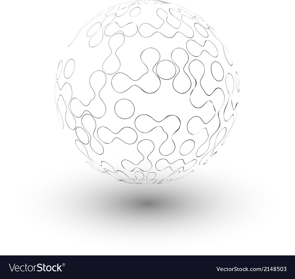 Transparent sphere background vector | Price: 1 Credit (USD $1)