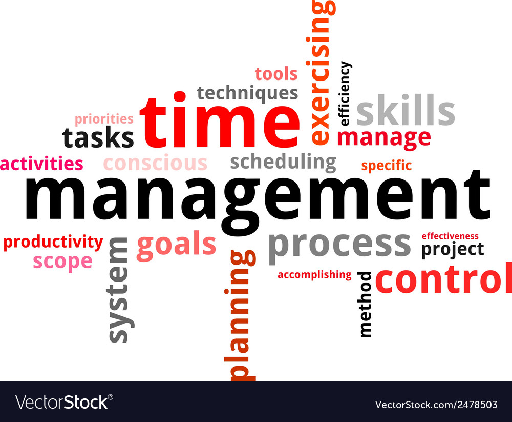 Word cloud time management vector | Price: 1 Credit (USD $1)