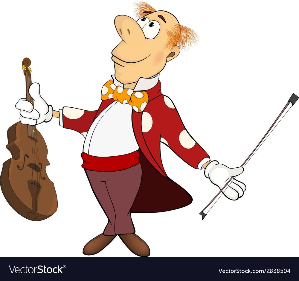 A violinist cartoon vector   Price: 1 Credit (USD $1)