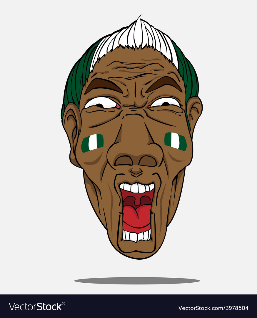 Football fan from nigeria vector | Price: 1 Credit (USD $1)