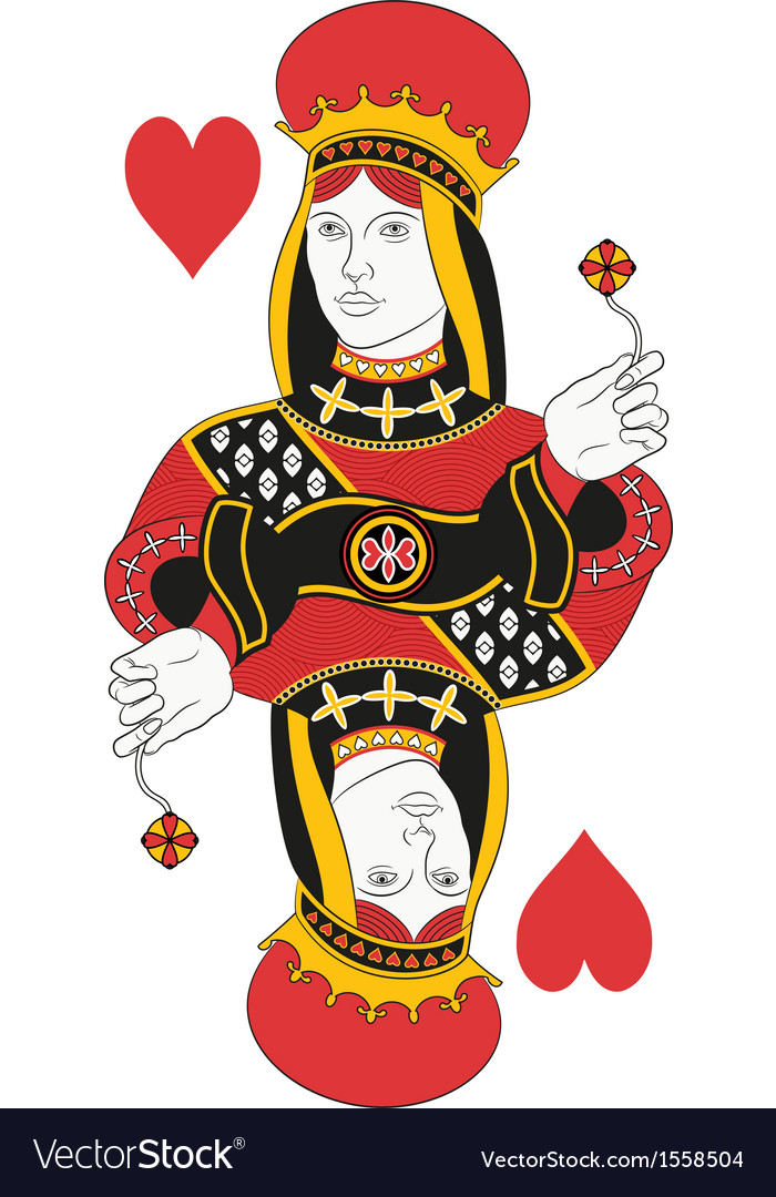 Queen of hearts no card vector | Price: 1 Credit (USD $1)