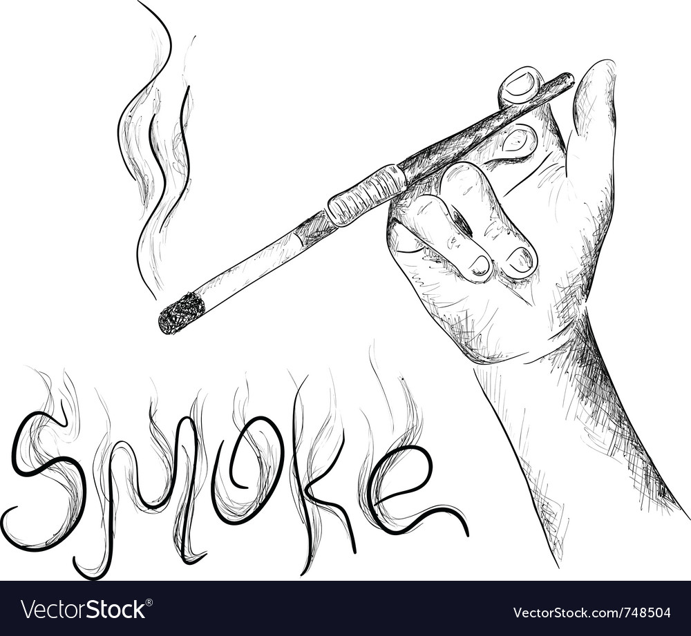 Smoking vector | Price: 1 Credit (USD $1)
