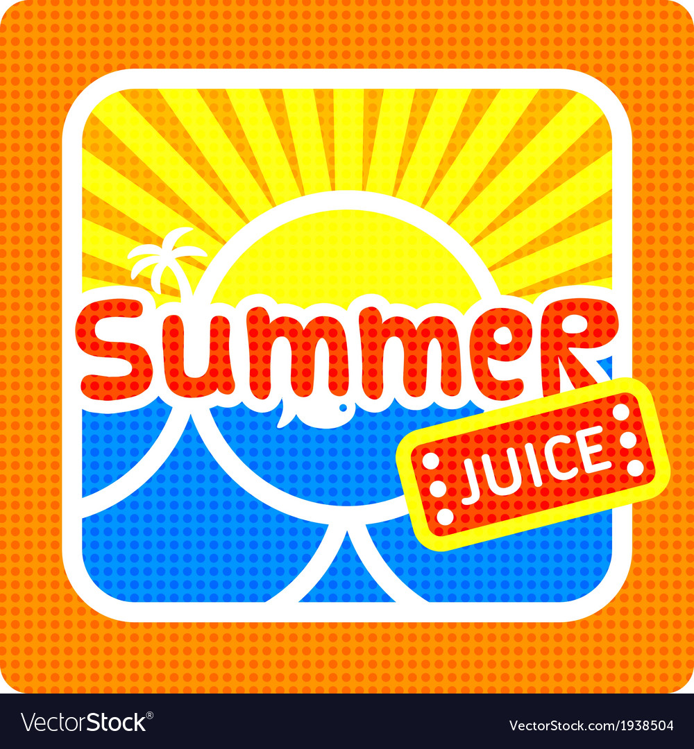 Summer juice label vector | Price: 1 Credit (USD $1)