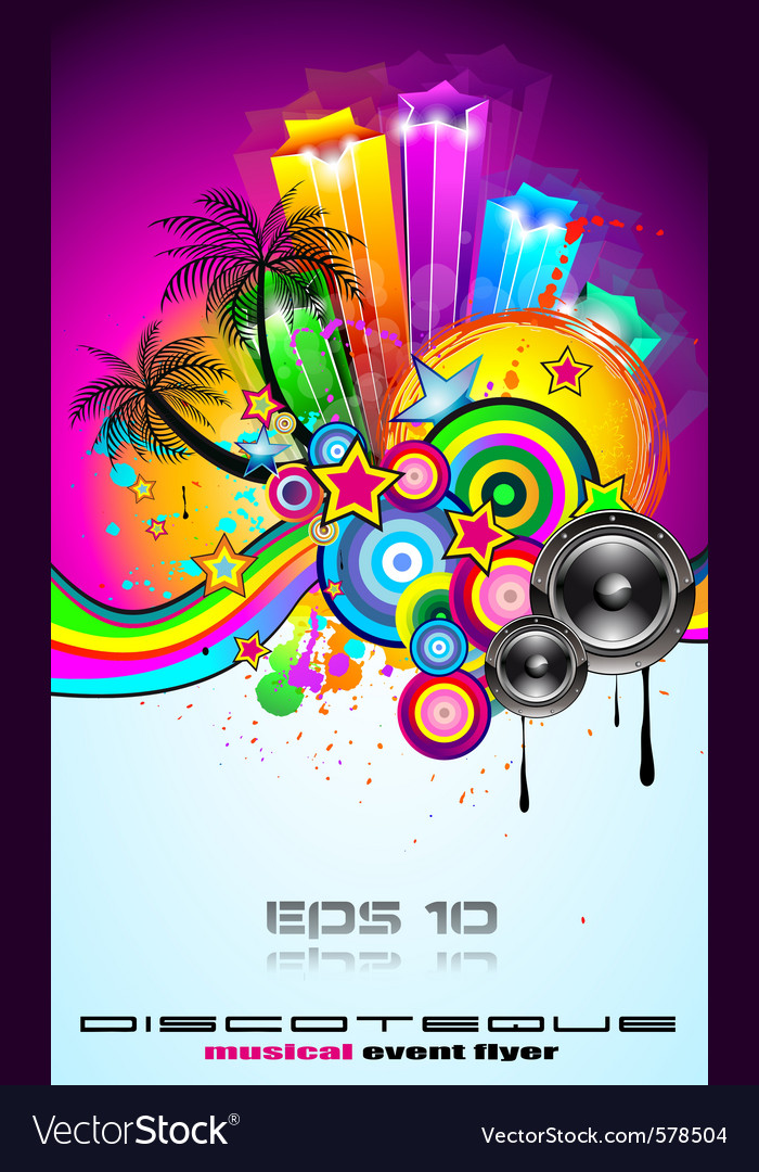 Tropical event disco vector | Price: 3 Credit (USD $3)