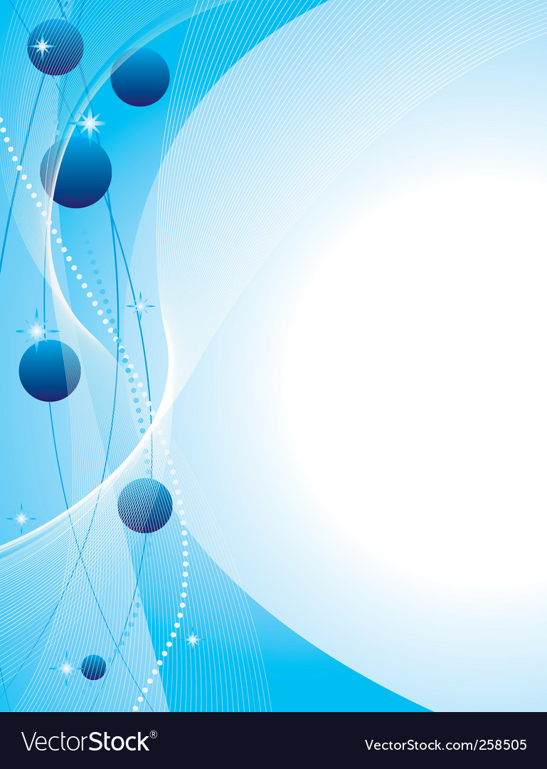 Abstract background with blue balls vector | Price: 1 Credit (USD $1)
