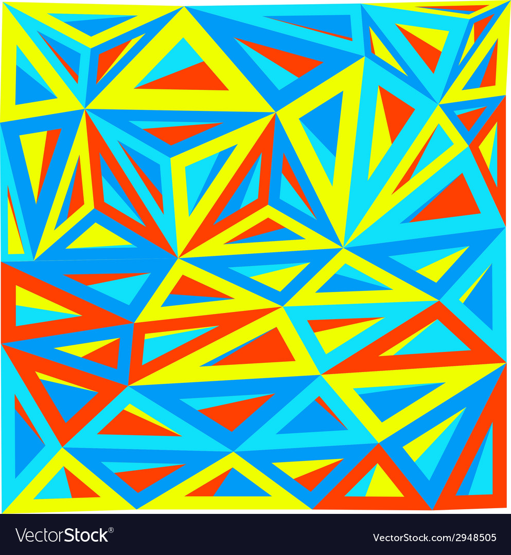 Abstract triangle art vector | Price: 1 Credit (USD $1)