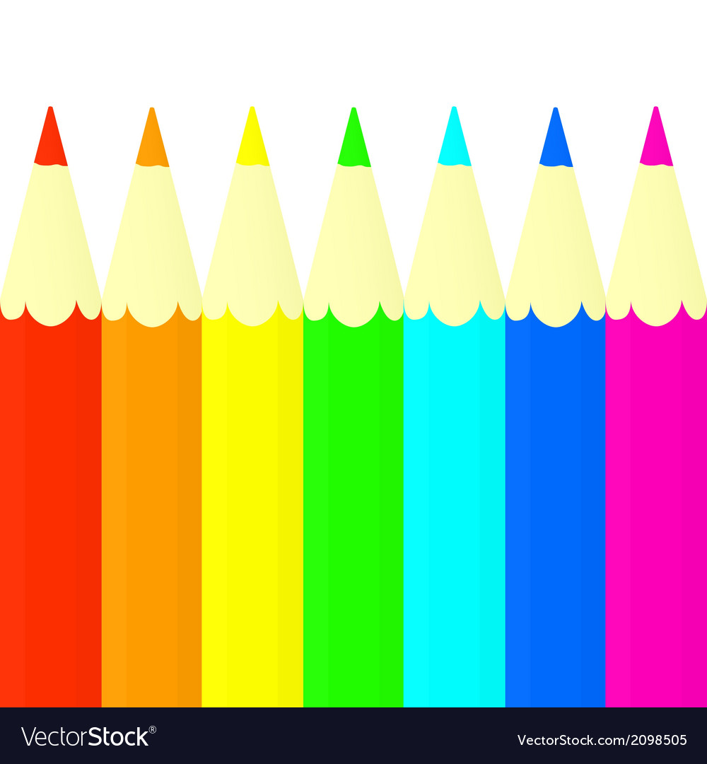 Colored pencils set vector | Price: 1 Credit (USD $1)