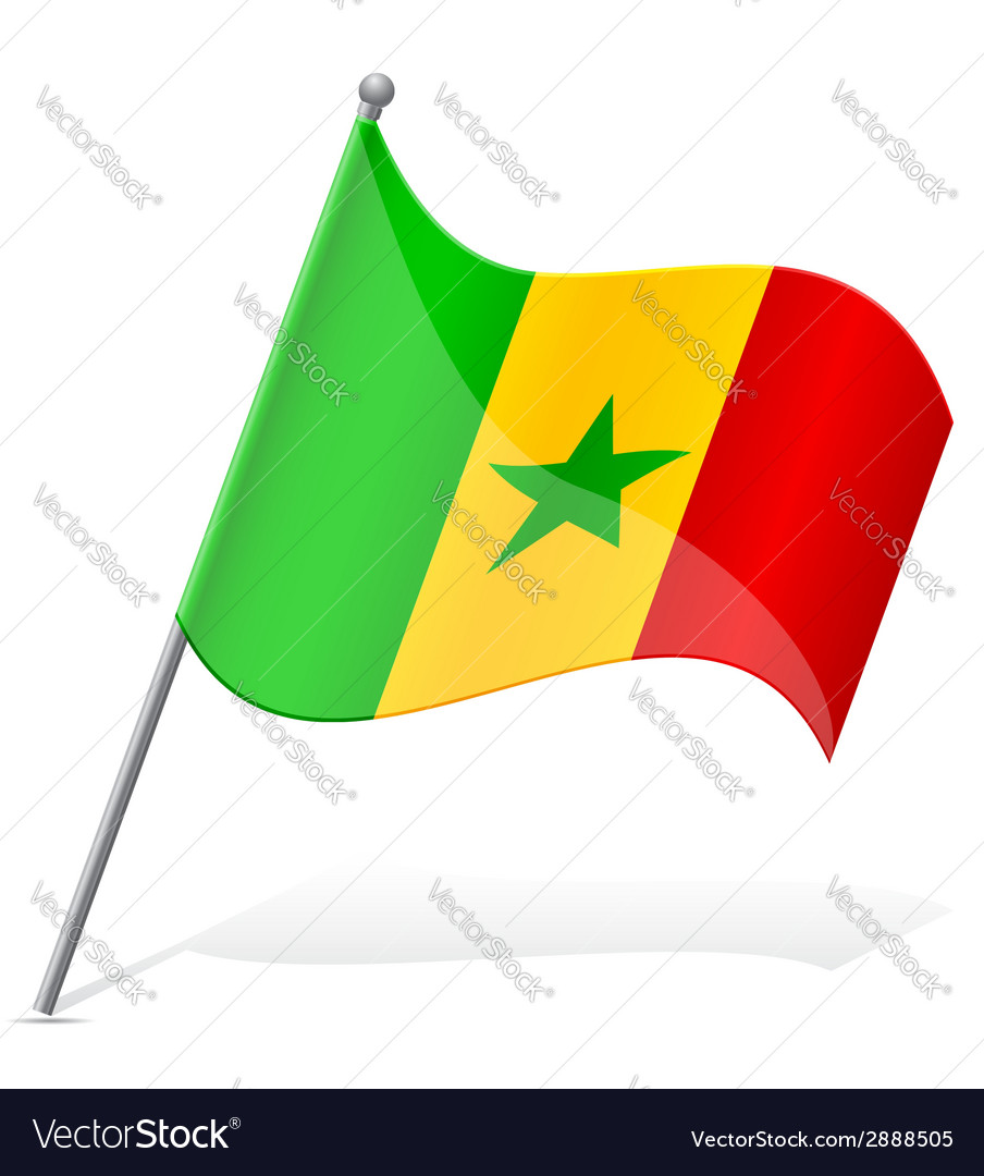 Flag of senegal vector | Price: 1 Credit (USD $1)
