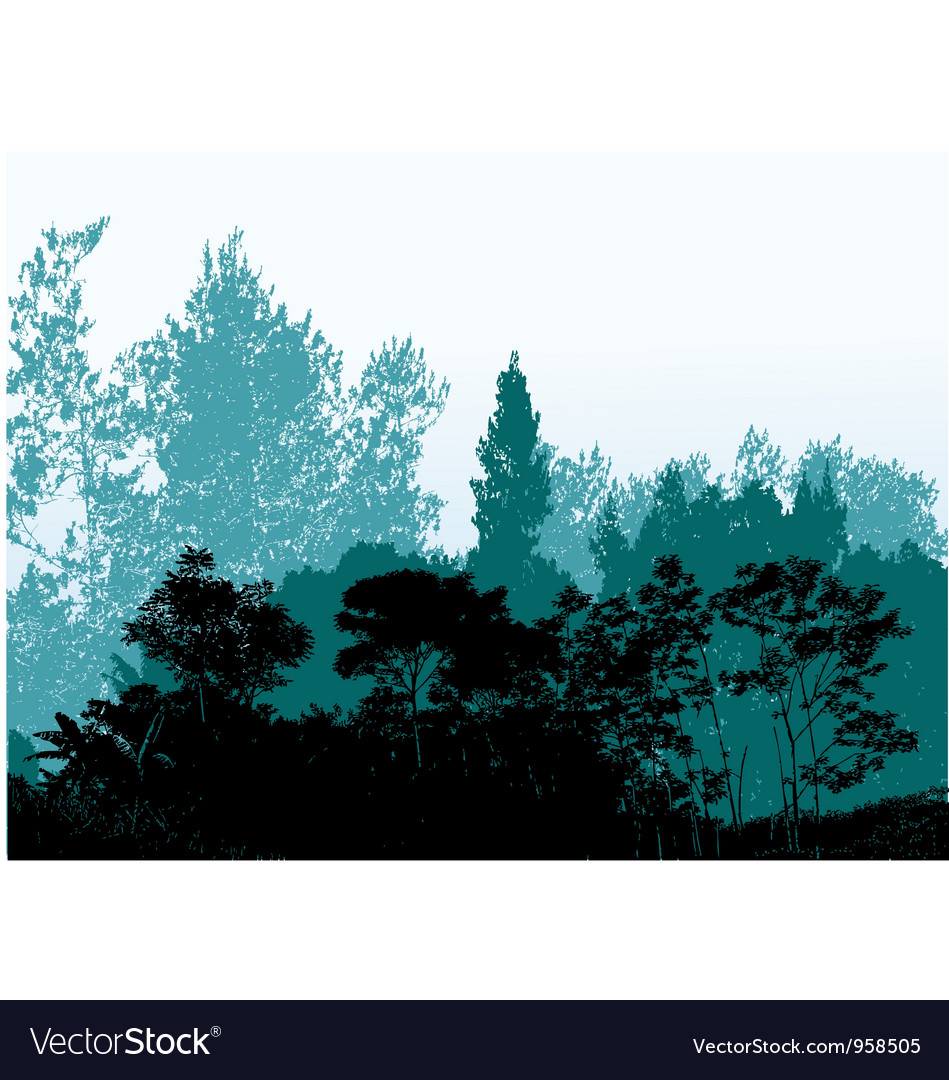Forest silhouette background vector | Price: 1 Credit (USD $1)