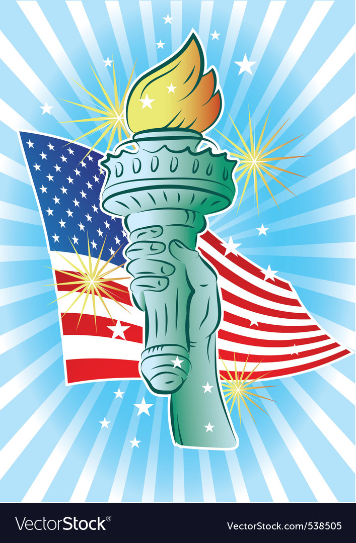 Hand of liberty vector | Price: 1 Credit (USD $1)