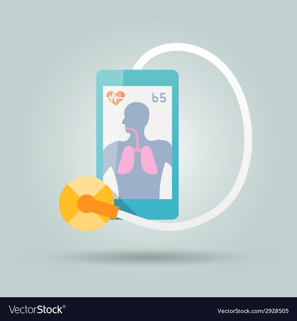 Mobile medicine concept vector | Price: 1 Credit (USD $1)