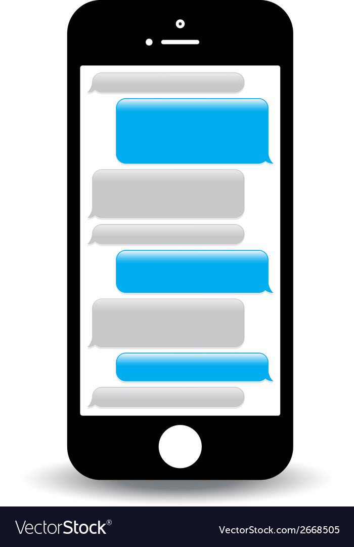 Phone text message vector | Price: 1 Credit (USD $1)