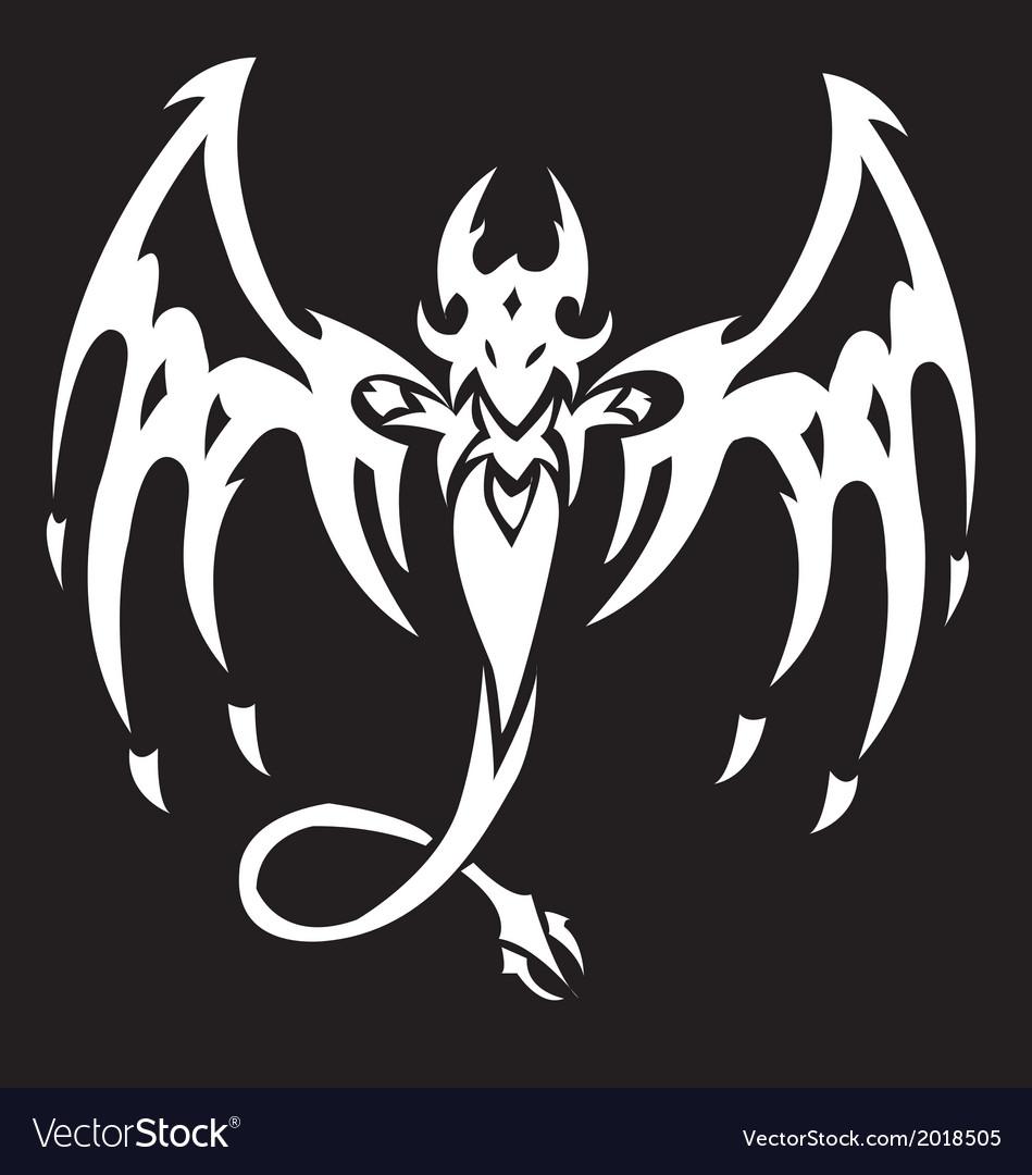 Tattoo bat tribal vector | Price: 1 Credit (USD $1)