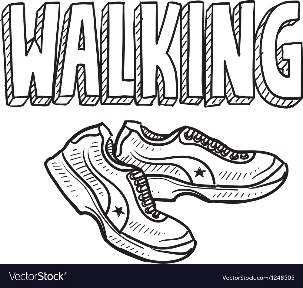 Walking vector | Price: 1 Credit (USD $1)