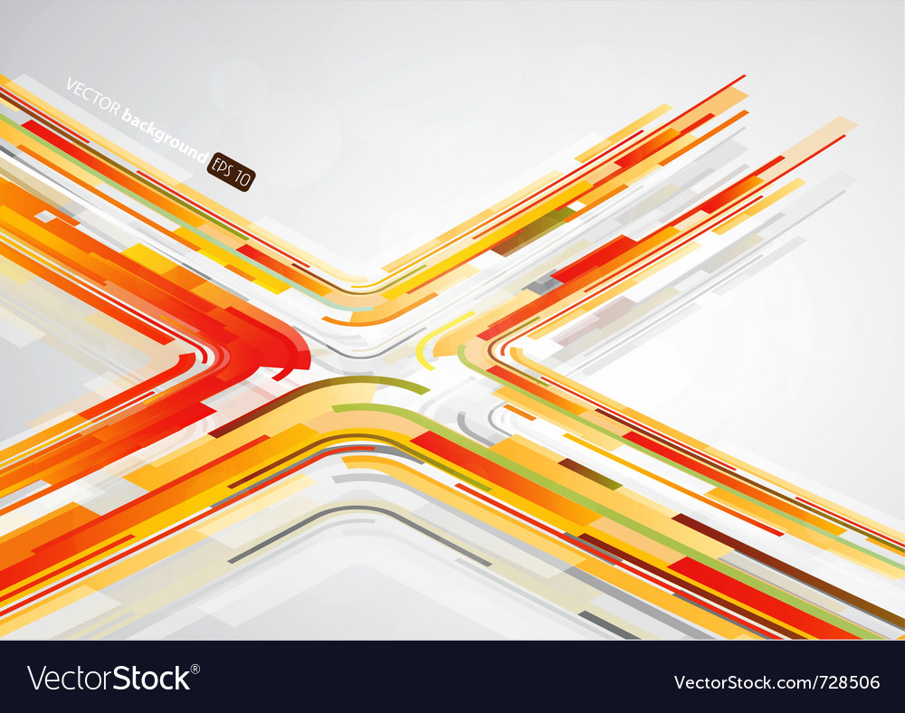 Abstract orange lines vector | Price: 1 Credit (USD $1)