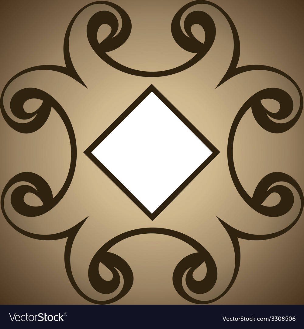 Abstract swirl design brown background vector | Price: 1 Credit (USD $1)