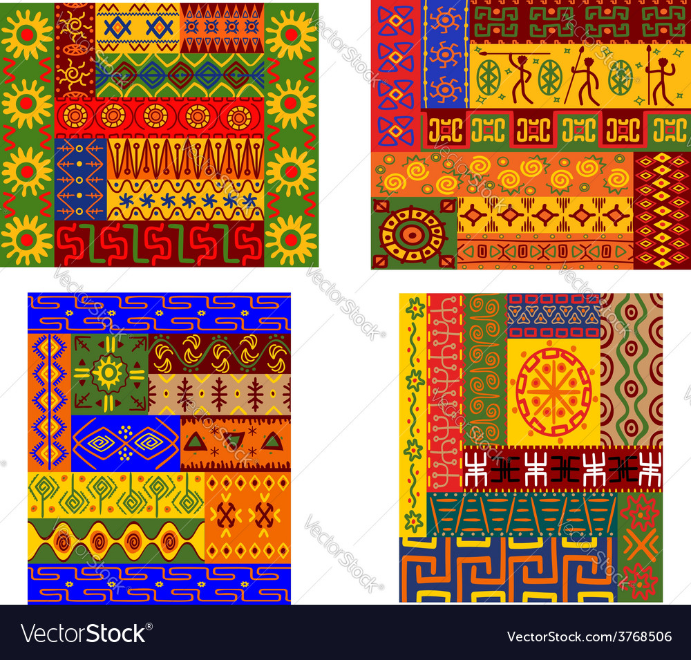 Colorful african ethnic patterns vector | Price: 1 Credit (USD $1)